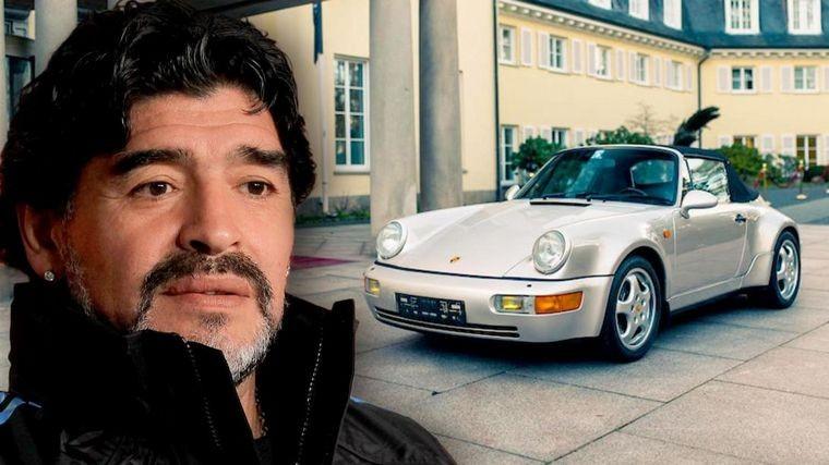 Subastaron un auto de lujo que perteneció a Maradona