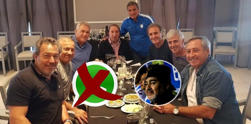 """""""Maradona se fue del grupo de Whatsapp del 86"""""""