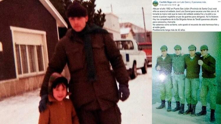 Malvinas: guardó los guantes que le regaló una nena en plena guerra