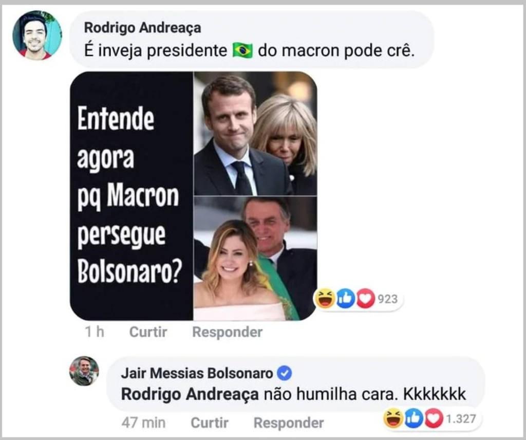 Escándalo por una ofensa de Bolsonaro a la esposa de Macron