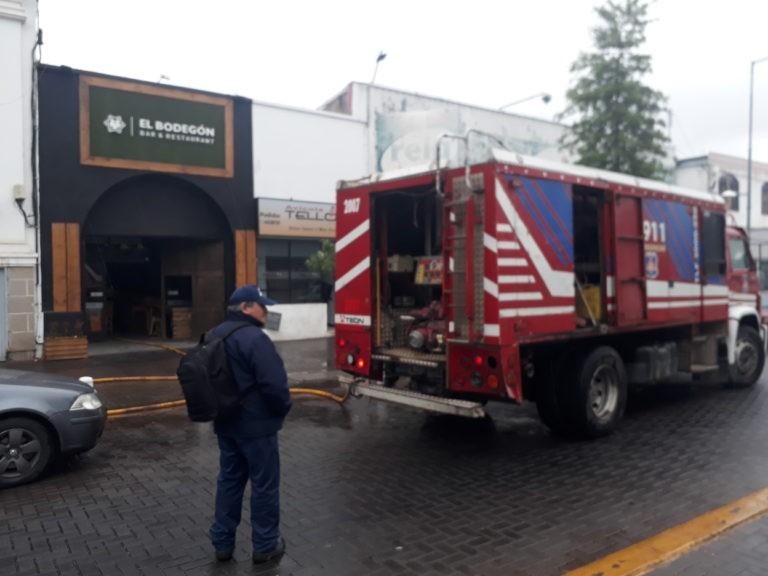 Incendio en un restaurante de San Martín